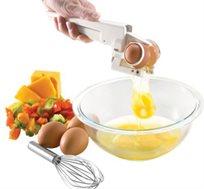 מפצח ביצים EZ Cracker לשבירה והפרדת חלמון וחלבון