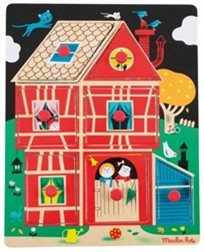 פאזל עץ בית של ילדים - Moulin Roty