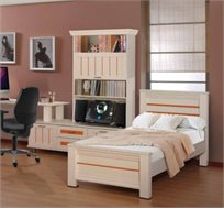 מיטת יחיד מעץ לחדרי ילדים ונוער דגם יפית