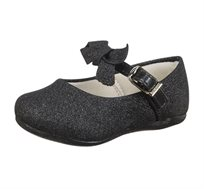נעלי בובה פפיון לפעוטות - שחור