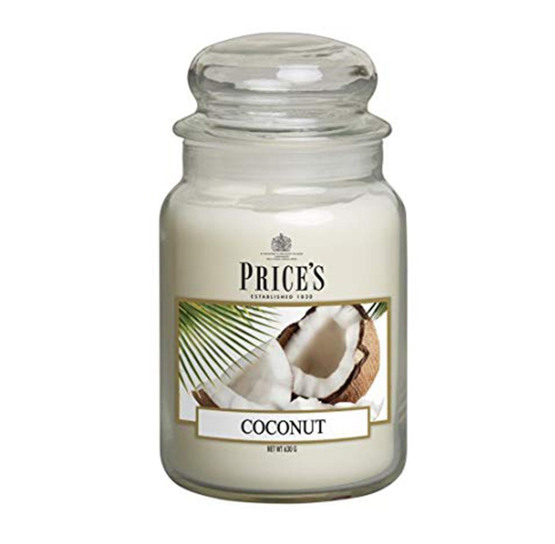 נר ריחני בניחוח Coconut בגדלים לבחירה
