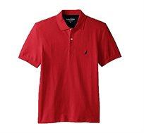 חולצת פולו נאוטיקה לגבר דגם K51701-6NR - אדום