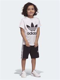 סט קייצי Trefoil Shorts Tee Set שחור - ילדים Adidas