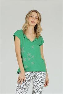 חולצה T כוכבים ירוק - ייבוא