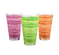 סט 6 כוסות גבוהות וצבעוניות CERVE תוצרת איטליה