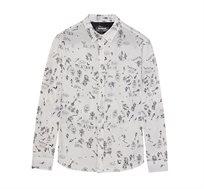 חולצה מכופתרת Desigual BOLIMANIA לגברים בצבע לבן