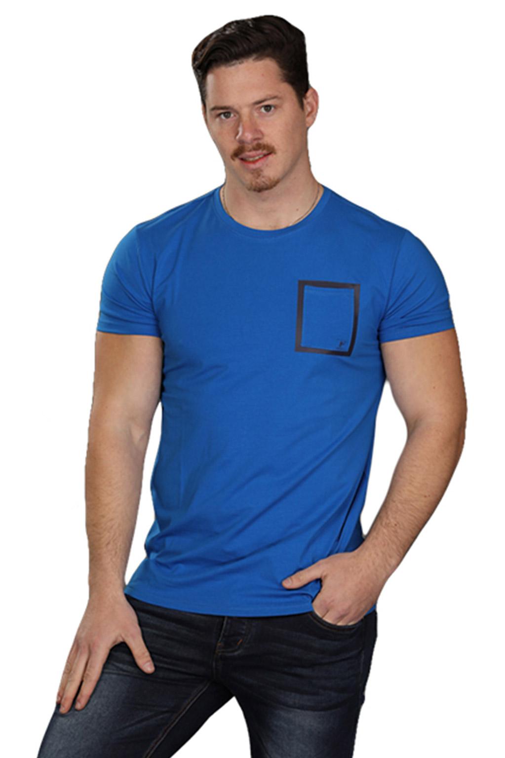 חולצת טישרט לגבר SLIM FIT - צבע לבחירה