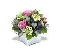 """""""נץ חלב"""", סידור פרחים מרהיב ביופיו עם נץ חלב וורדים ורודים - משלוח חינם!"""