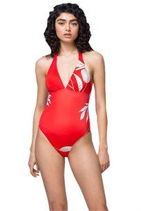 בגד ים שלם Granada Halter Neck Swimsuit ZOHARA בצבע אדום