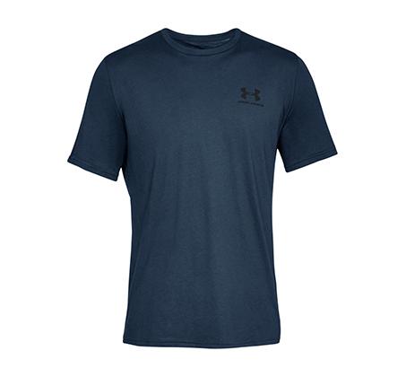 חולצת אימון Under Armour Sportstyle Left Chest SS לגברים - כחול
