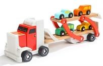 משאית הובלה + 4 מכוניות מעץ