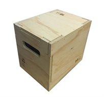 """ארגז קרוספיט פליאומטרי מעץ מלא 30X35X40 ס""""מ לחיזוק ועיצוב הגוף"""