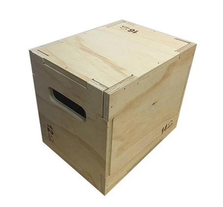 קוביית קפיצה קרוספיט פליומטרית מעץ מלא