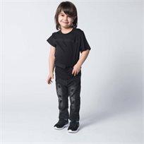 ORO חולצת טוניקה סרטים שחור (8-2 שנים)