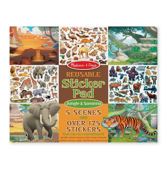 חוברת מדבקות ג'ונגל & סוואנה