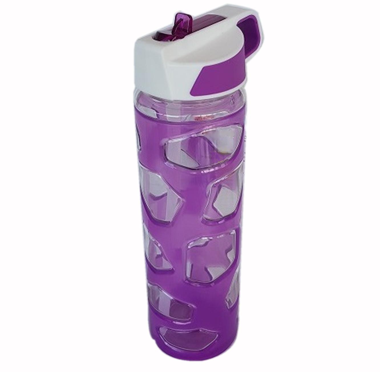 בקבוק שתייה מעוצב עם פיה לשתיה נוחה בצבעים לבחירה 650 מ