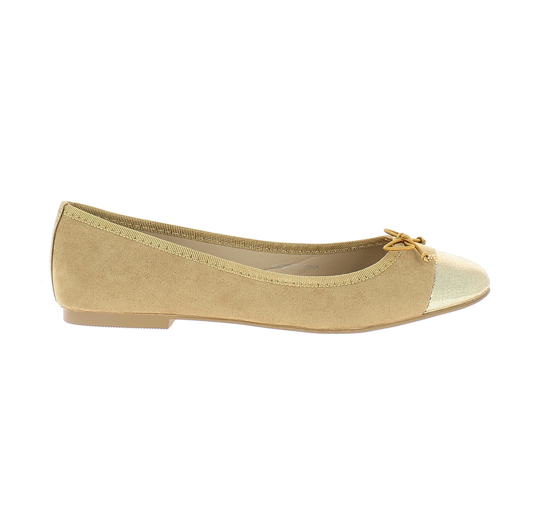 נעלי בלרינה קלאסיות MABALLERINE PARIS MICHELINE - בז' וזהב