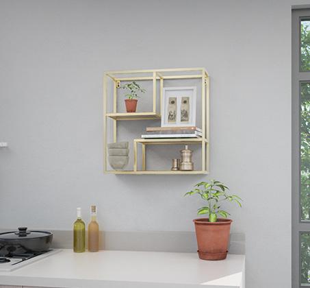 מעמד קיר בעיצוב מודרני בצבע זהב דגם אנג'לו
