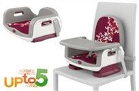 מושב הגבהה רב שימושי עד גיל 5 עם מנגנון התקנה יחודי Upto5 - אדום