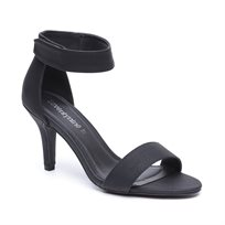 Seventy Nine - נעלי עקב בצבע שחור עם סגירת סקוץ בקרסול