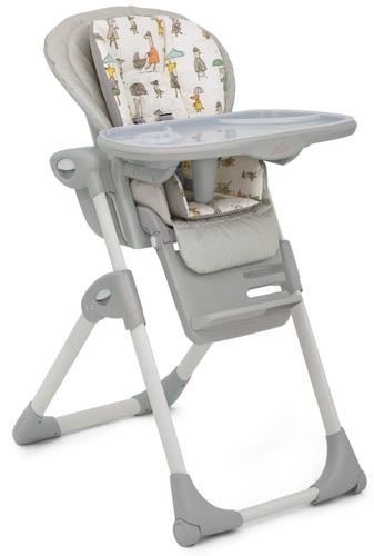 כסא אוכל מפואר לתינוק Mimzy Lx עם 3 מגשים וריפוד כפול - In The Rain