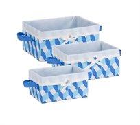 סט 3 קופסאות עם בד קשיח צבעוניות honey can do