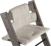 כרית ריפוד ועיצוב לכיסא אוכל טריפ טראפ 100% כותנה אורגנית - אפור Timeless