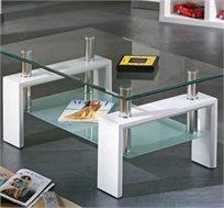 טהרת הלבן! שולחן סלון GAROX דגם Antonio, בעיצוב מרהיב ועדכני וגימור HIGH GLOSS לבן - משלוח חינם