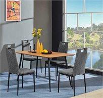 פינת אוכל מעוצבת דגם COSTA עשויה עץ הכוללת 4 כיסאות