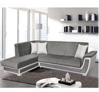 מערכת ישיבה פינתית נפתחת למיטה זוגית עם ארגז מצעים דגם קליפורניה HOME DECOR