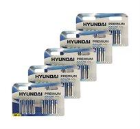 40 סוללות AA אולטרה אלקליין חזקות ואיכותיות HYUNDAI