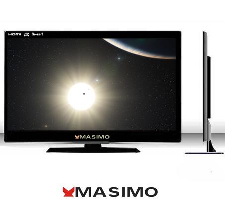 """מחיר מטורף! טלוויזיה """"32 מבית Masimo + מתקן תליה צמוד קיר מבית AUDIOLINE + התקנה + משלוח חינם!"""