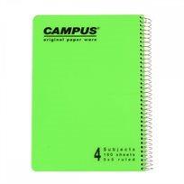 מחברת ספירלה A4 משבצות–4 נושאים Campus
