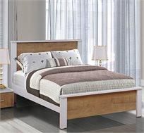 מיטה זוגית עם גב עשויה עץ שישדרג לכם את חדר השינה במגוון צבעים לבחירה