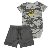 Minene חליפת בגד גוף (6-24 חודשים) - צבאי