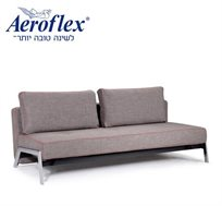 """לזמן מוגבל! ספה מעוצבת הנפתחת למיטת אירוח זוגית בגודל 200X140 ס""""מ מבית 'אירופלקס'"""