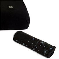 Baby Mitmit סט קייצי למיטת תינוק - שמיכה וסדין שחור - Galaxy