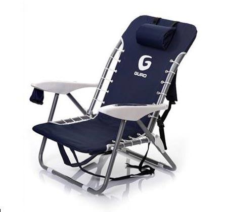 כיסא חוף מתקפל GURO עם מסגרת אלומיניום