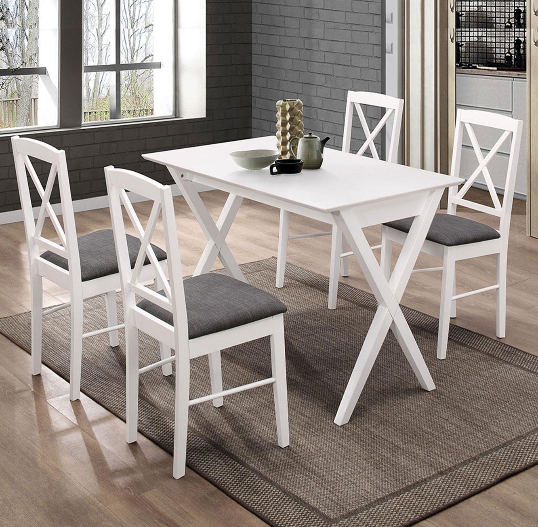 פינת אוכל מעוצבת דגם SONOMA עשויה עץ הכוללת 4 כיסאות