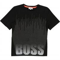 BOSS חולצת טישרט (16-4 שנים) שחור סמל גדול