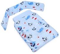 מצעים 3 חלקים למיטת תינוק כותנה טריקו מיקי / מיני מאוס
