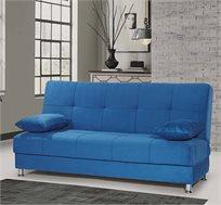 ספה אורטופדית מרופדת נפתחת למיטה וזוג כריות במגוון צבעים לבחירה
