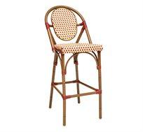 כסא בר ראטן מעוצב למטבח דגם רולדין