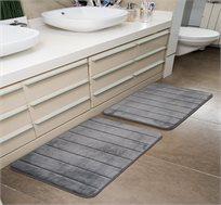 זוג שטיחים ארגונומיים דוגמת פסים שטיחים בסנטר במגוון גוונים לבחירה - משלוח חינם