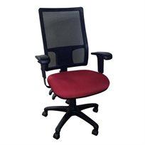 כסא מנהלים עם גב רשת מושב בריאותי מרופד דגם פרימיום, במגוון צבעים