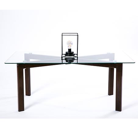 שולחן קפה סלוני מלבני מעוצב ומודרני מזכוכית