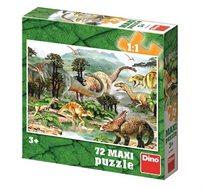 פאזל דינוזאורים מכיל 72 חלקים