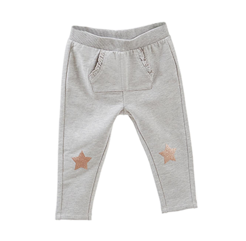 מכנס פוטר סטרצי OVS לילדים - אפור