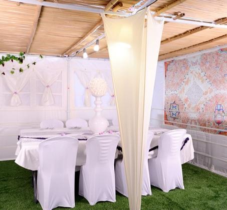 שומרים וצובעים! כיסוי כיסא פלסטיק מתאים לכל אירוח ואירוע, עשוי מבד Spandex במגוון צבעים לבחירה - תמונה 2