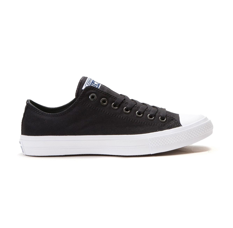 נעלי סניקרס נמוכות לנשים  - שחור/לבן